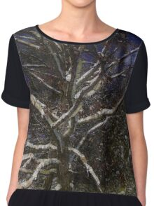 Family Tree Chiffon Top
