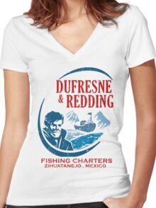 Dufresne & Redding   Women's Fitted V-Neck T-Shirt