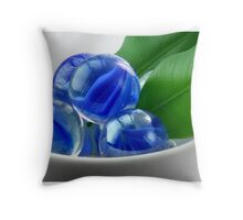 Refreshing Green and Blue Pillow Throw Pillow