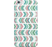 Peony and Seafoam Chevron iPhone Case/Skin