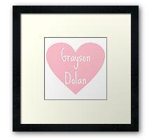 Grayson Dolan heart Framed Print