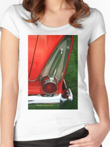 Old car tail light Women's Fitted Scoop T-Shirt