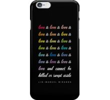 Love Is Love Is Love [Black] iPhone Case/Skin
