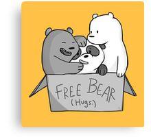 We Bare Bears  Free Bear Hug Canvas Print