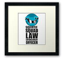 Squirtle Squad Law Enforcement Officer Framed Print