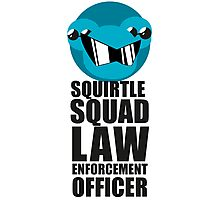 Squirtle Squad Law Enforcement Officer Photographic Print