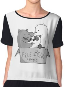 We Bare Bears  Free Bear Hug Chiffon Top