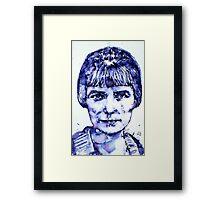 KATHERINE MANSFIELD portrait Framed Print
