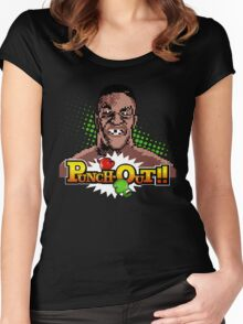 Mike Tyson Punch Out Women's Fitted Scoop T-Shirt