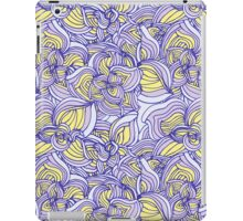 Violet floral abstract pattern iPad Case/Skin