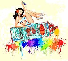 Graffiti Pin Up by HilaryHeffron