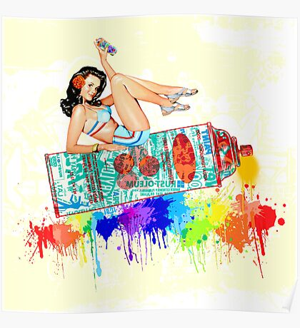 Graffiti Pin Up Poster