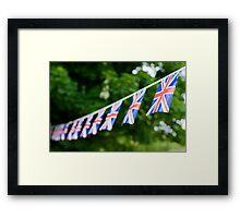 British Union Jack flag bunting  Framed Print