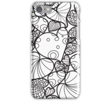 Pattern with hearts and leaves iPhone Case/Skin