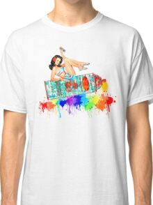 Graffiti Pin Up Classic T-Shirt
