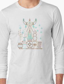 Santa Fe Garden – Navy Long Sleeve T-Shirt