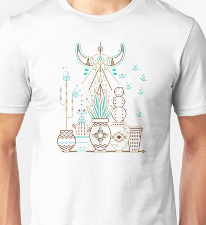 Santa Fe Garden – Navy Unisex T-Shirt
