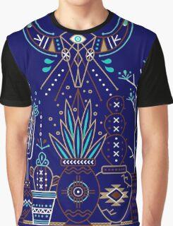 Santa Fe Garden – Navy Graphic T-Shirt