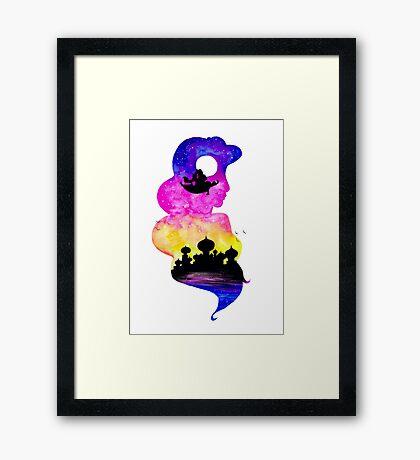 Princess Jasmine Double Exposure! Framed Print