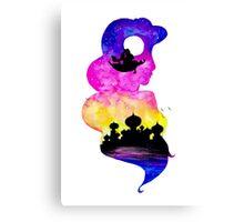 Princess Jasmine Double Exposure! Canvas Print