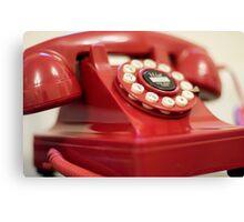 Retro red telephone Canvas Print