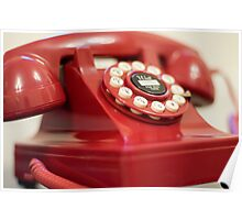 Retro red telephone Poster