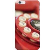 Retro red telephone iPhone Case/Skin