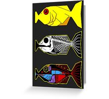 The Hitchhikers Guide to the Galaxy - 3 Babel Fish Greeting Card