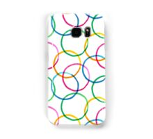 Seamless pattern with colorful watercolor circle elements Samsung Galaxy Case/Skin