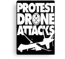 Protest Drone Attacks Canvas Print