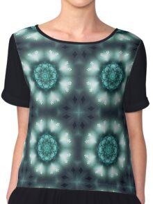 Green Floral Mandala - Abstract Fractal Artwork Chiffon Top