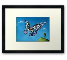 Surreal butterfly Framed Print