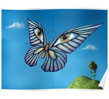 Surreal butterfly Poster