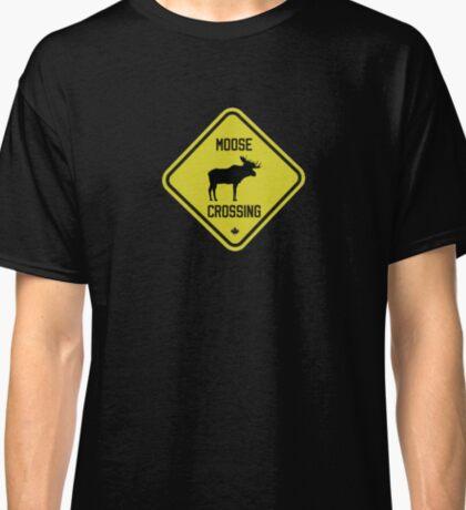 Canada Moose Crossing Sign Classic T-Shirt