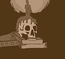 Skull and candle vintage by Logan81