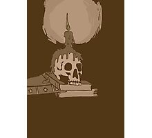 Skull and candle vintage Photographic Print