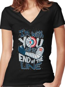 Till the end of the line Women's Fitted V-Neck T-Shirt