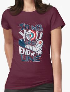 Till the end of the line Womens Fitted T-Shirt