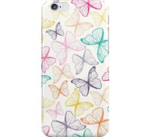 Seamless pattern with colorful butterflies iPhone Case/Skin