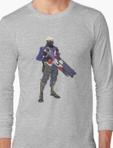 Soldier 76 Pixelated Long Sleeve T-Shirt