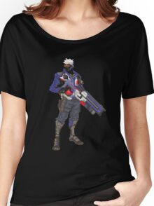 Soldier 76 Pixelated Women's Relaxed Fit T-Shirt