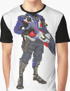 Soldier 76 Pixelated Graphic T-Shirt