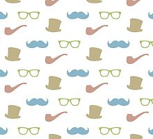 Mustache, hat, pipe and glasses by irinatsy