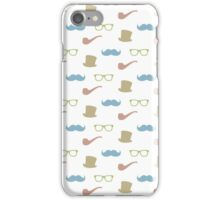 Mustache, hat, pipe and glasses iPhone Case/Skin