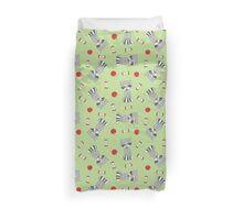 Hungry racoons Duvet Cover