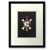 SKULLS AND BONES Framed Print