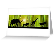 Africa animal silhouettes in the Magic Forest  Greeting Card