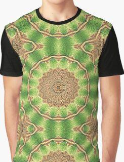 Green Floral Mandala - Abstract Fractal Artwork Graphic T-Shirt