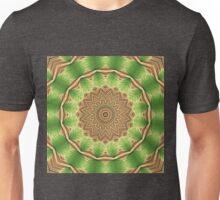 Green Floral Mandala - Abstract Fractal Artwork Unisex T-Shirt