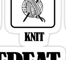 Coffee Knit Repeat Sticker